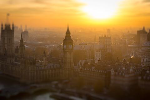 London Big Ben Sunrise Cityscape Architecture Summer