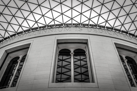 London England British Museum Architecture Building Roof Millennium Windows