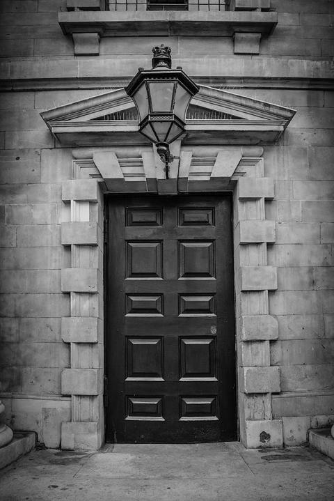 London Architecture Old Victorian Doorway and Lantern