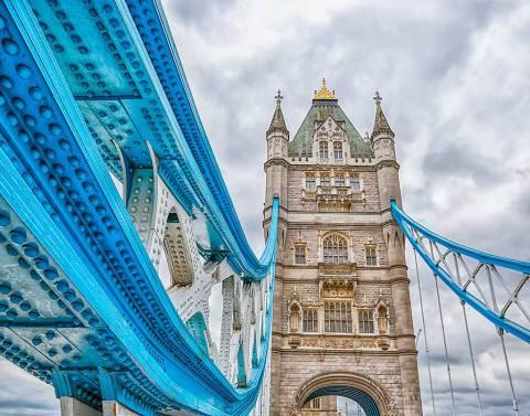 London Tower Bridge Close Up Architecture Photograph