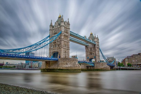 London Tower Bridge and River Thames Long Exposure Photograph