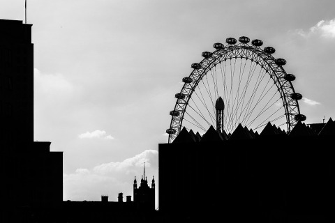 London Eye Silhouette Shadow outline