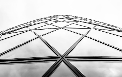 London England Gherkin Building Window Architecture Glass Triangles Minimal