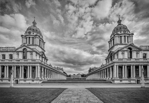 London Greenwich Naval college Buildings Architecture towers