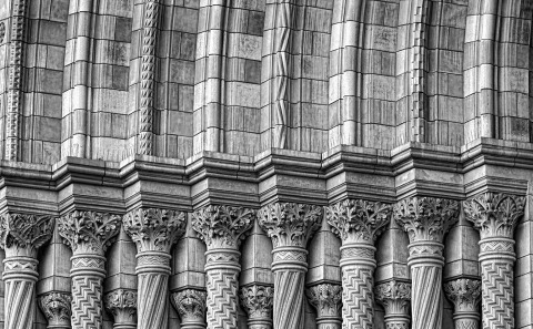 London natural history Museum Building outside ornate Architecture