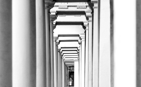 London Notting Hill Architecture Building England Columns England UK British Black and White