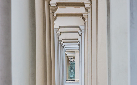 London Notting Hill Architecture Building England Columns England UK British