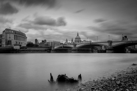 UK St Pauls Cathedral River Thames London Bridge Architecture Cityscape Long Exposure