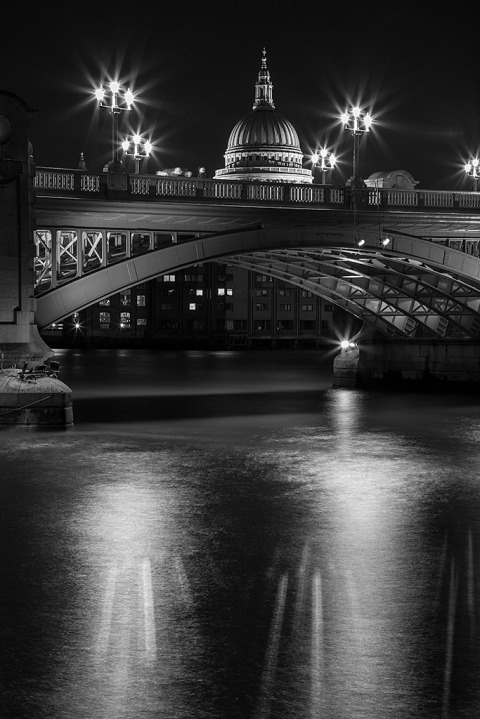 UK St Pauls Cathedral River Thames London Bridge Architecture Cityscape Long Exposure Night