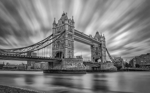 LondonTower Bridge River Thames Long Exposure