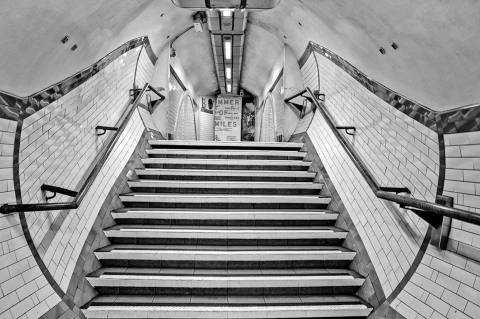LondonUnderground Train Subway Station Tunnel steps Architecture