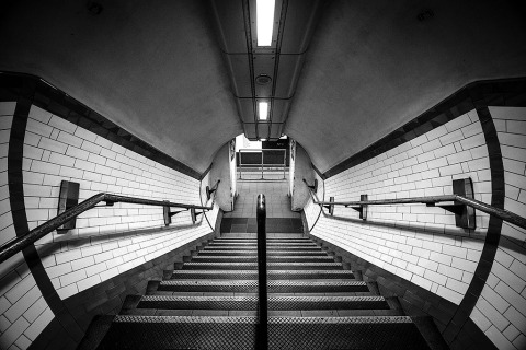 London Tube Subway Station Platform Steps Architecture Victorian