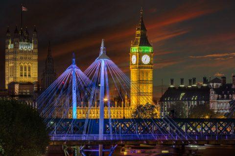 London-big-ben-millenium-bridge- sunset-night