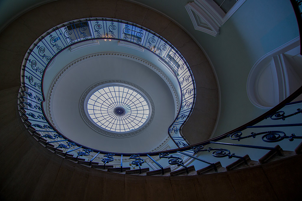 Round Spiral Staircase Steps Glass Dome Roof Architecture
