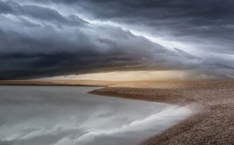 antonyz landscape storm clouds shingle beach coast