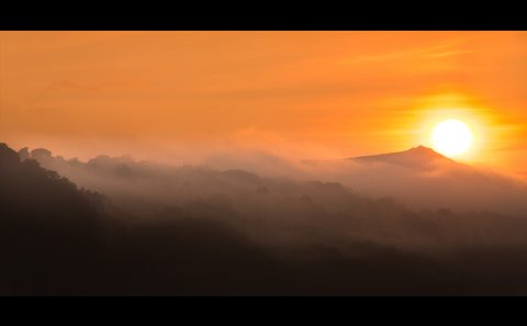 antonyz landscape mist sunset snowdonia mountains wales