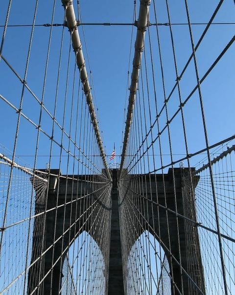 Brooklyn bridge cables NYC New York City