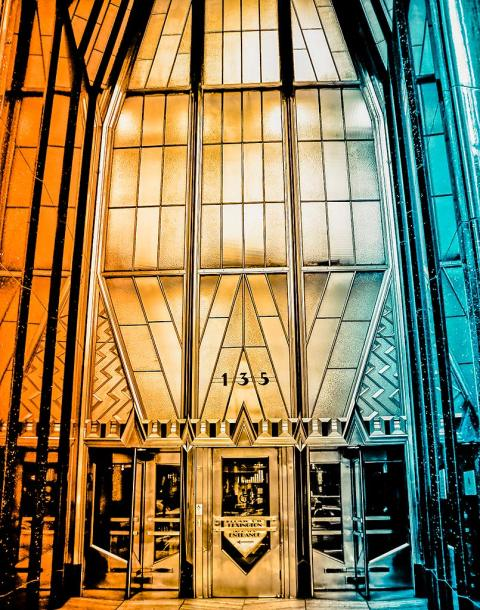 Chrysler Building Entrance NYC New York City