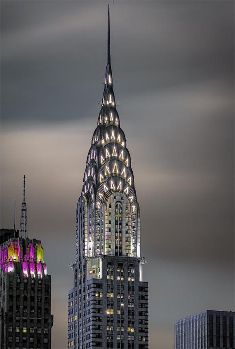 Chrysler Building Lights NYC New York City