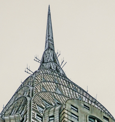 Chrysler Building top in NYC New York City