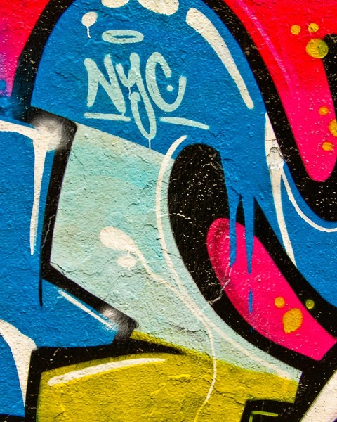 Colorful NYC Graffiti in New York City