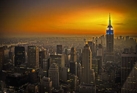 Empire State Building at sunset NYC