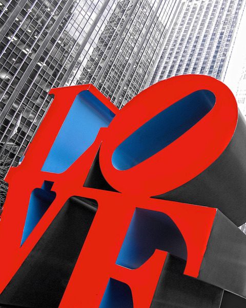 Love sculpture in NYC New York City