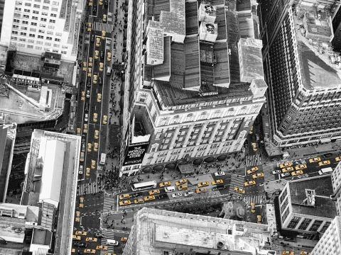 Macys NYC New York City yellow taxi