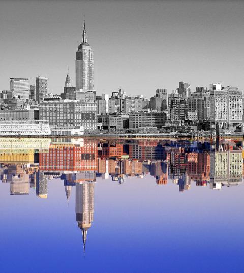 Midtown Manhattan NYC reflections