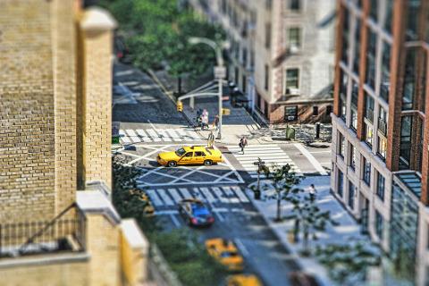 Miniature Taxi Midtown Manhattan New York NYC