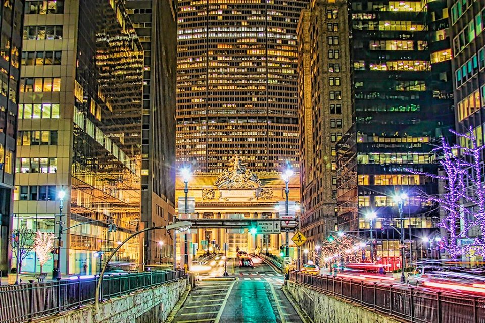Park Avenue and Grand Central Station New York City NYC