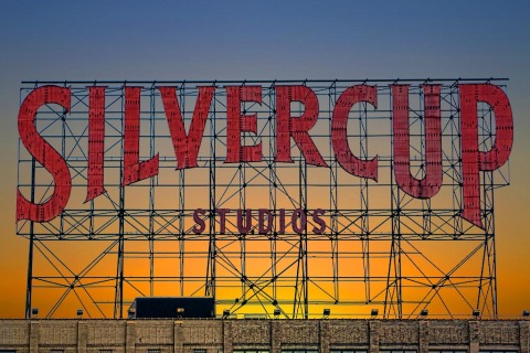 Silvercup Studios sign in New York City NYC