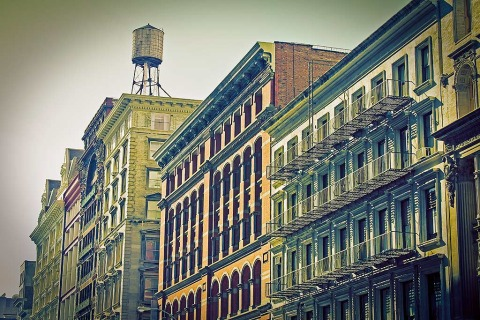 Soho Buildings Water Tower New York City NYC