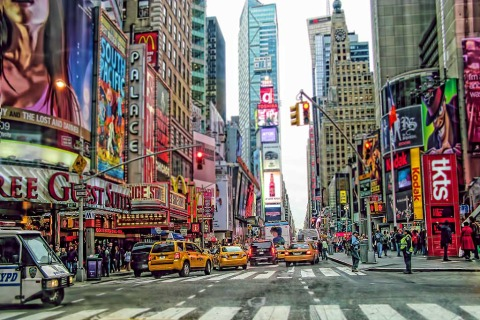 Times Square Streets NYC New York City