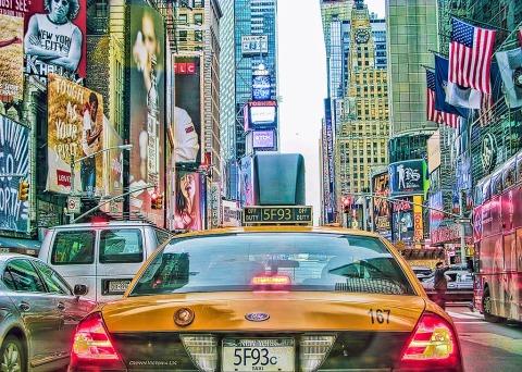 Times Square NYC New York City Traffic