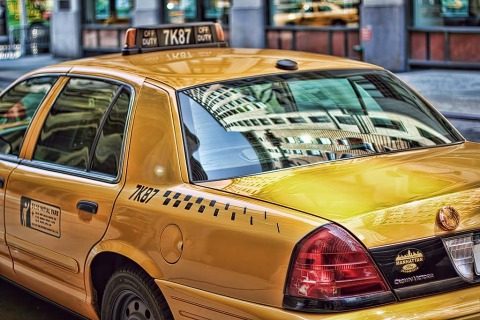 Yellow Taxi Cab in New York City NYC