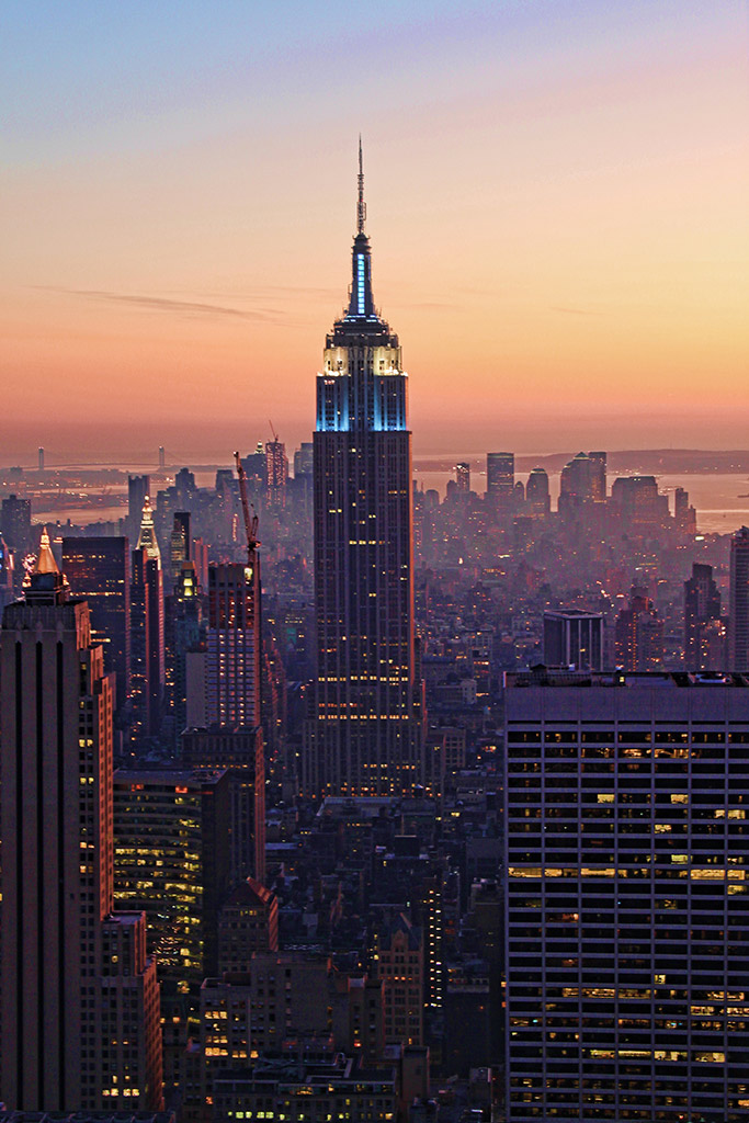 empire state building sunset - photo #33