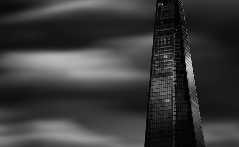 London Shard architecture Building-Skyscraper Long Exposure black and white