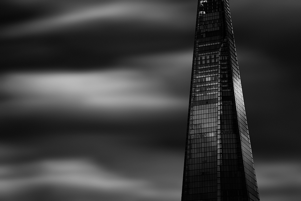 London Shard architecture Building Skyscraper Long Exposure black and white