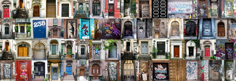 panorama collection of doors in and around manhattan NYC New York City