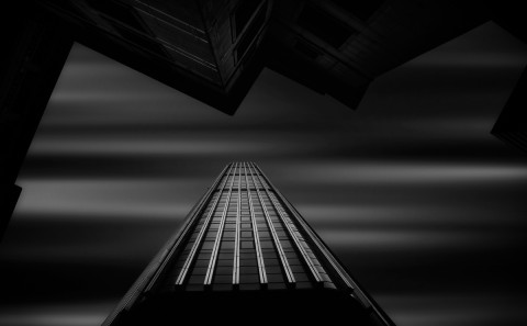 architecture-long-exposure-london-modern-office-buildings-black-and-white