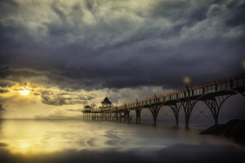 clevedon-pier-england-sunset-waterscape