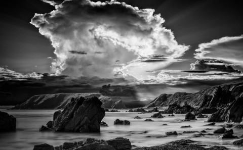 pembrokeshire-coast-wales-sunset-rocks-ocean-sea-long-exposure-black-and-white