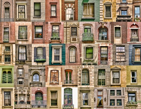 collage of ornate windows architectural elements
