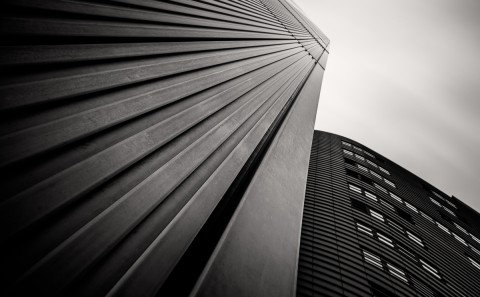 minimal building long exposure building fine art architectural black and white