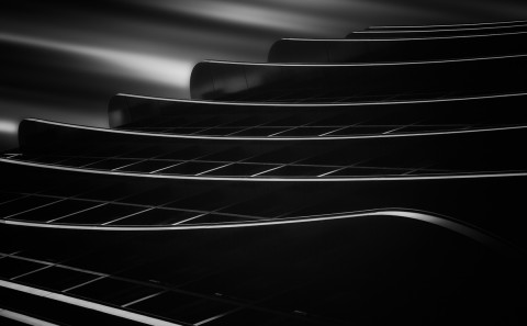 balconies on a building long exposure building fine art architectural black and white