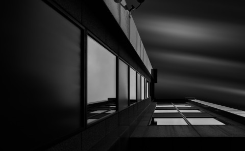 architecture long exposure glass office building corner office building windows fine art architectural black and white