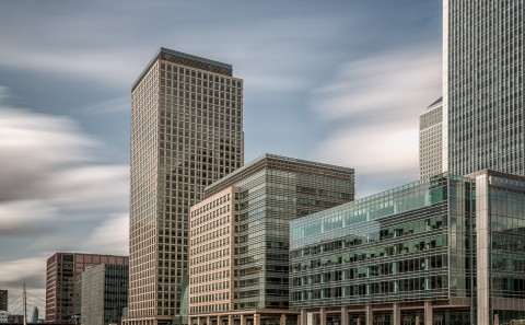long exposure canary wharf docklands building fine art architecture