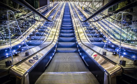 modern escalator moving walkway architecture element