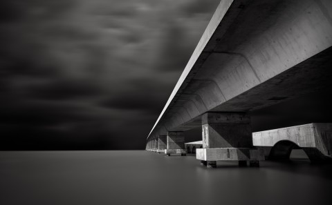 7 mile bridge florida architecture black and white